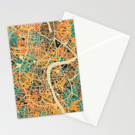 London Mosaic Map #3 Stationery Cards