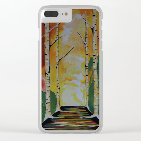 Meet Me By The Birches Clear iPhone Case