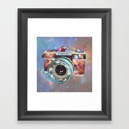 SPACE CAN0N Framed Art Print