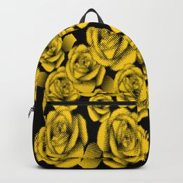 Yellow Halftone Roses Backpack