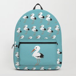 Cute stork vector Backpack