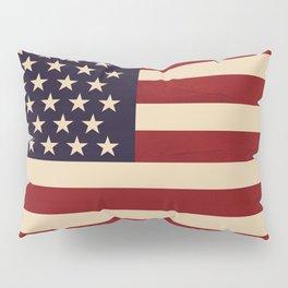 American Flag Vintage Americana Pillow Sham