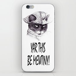 Yar This Be Mewtiny! iPhone Skin