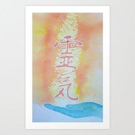Reiki Hand Art Print