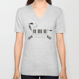 Life is like a piano Unisex V-Neck