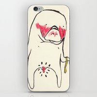 manatee iPhone & iPod Skins featuring measure manatee by withapencilinhand