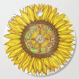 Sunflower Compass Cutting Board