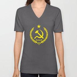 CCCP Communist Hammer & Sickle Unisex V-Neck