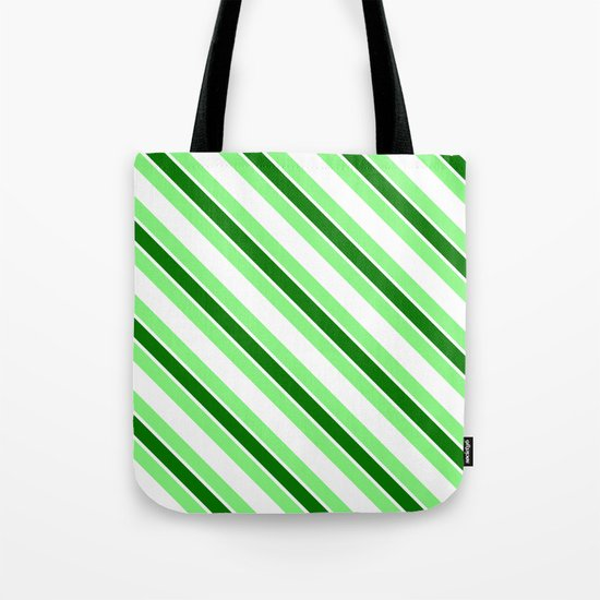 Green stripes Tote Bag
