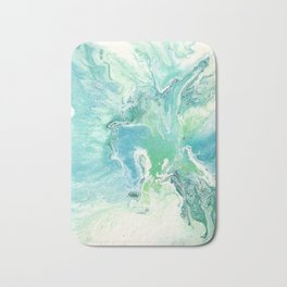 Breathe Blue Abstract Print Bath Mat