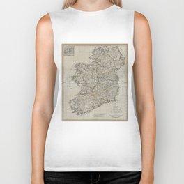 Vintage Map of Ireland (1804) Biker Tank