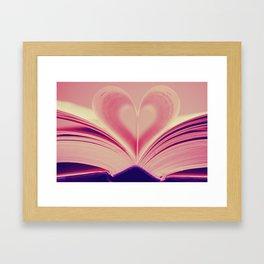 Love, Reading Framed Art Print