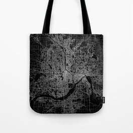 minneapolis map Tote Bag