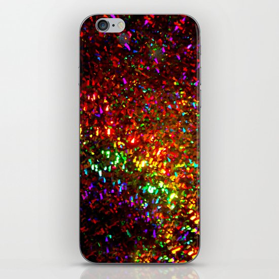 Fascination in gold-photograph of colorful lights iPhone & iPod Skin