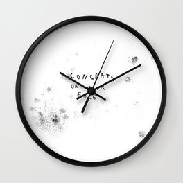Congrats on your face  Wall Clock