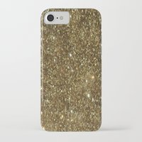 gold glitter iPhone & iPod Cases featuring Gold Glitter by NatalieBoBatalie