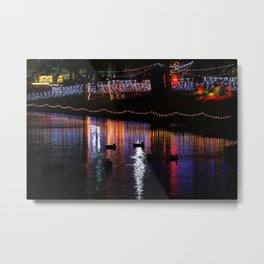 ducks on relfections Metal Print