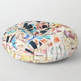 Mosaic of Barcelona VI Floor Pillow