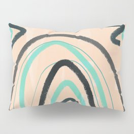 Abstract line art turquoise Pillow Sham