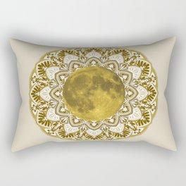 GOLD MOON MANDALA Rectangular Pillow