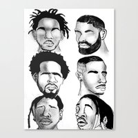 hip hop Canvas Prints featuring Hip Hop by Tristan