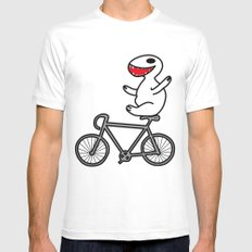 WIT bike riding Mens Fitted Tee MEDIUM White