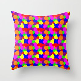 Colourful Splodges Throw Pillow