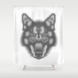 Hex: Lobo Ibérico Shower Curtain