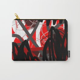 Red, Black & Gray Abstract Carry-All Pouch