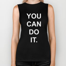 You can do it Black Biker Tank