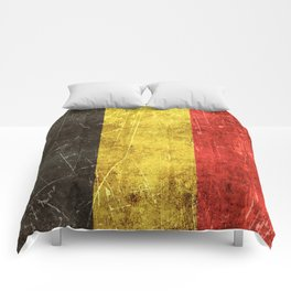 Vintage Aged and Scratched Belgian Flag Comforters