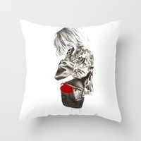 military Throw Pillows featuring Military Jacket by MASALEVICH