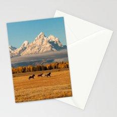Horses Running in Grand Teton Stationery Cards