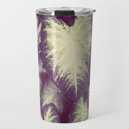 White Caladium Travel Mug
