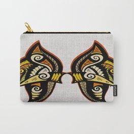 Tribal Feline Side Carry-All Pouch