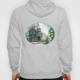 Blue House on a Grey Day Hoody