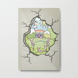 Spring Hole Metal Print