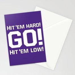 Hit'em hard! Go! Stationery Cards