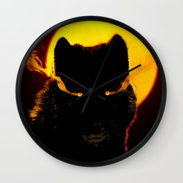 Malevolent Wolf Wall Clock