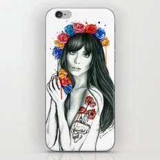 tattoo girl iPhone Skin
