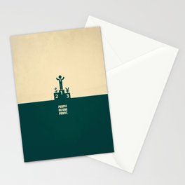Lab No.4 -People Before Profit Quotes poster Stationery Cards
