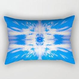 255 - Abstract Blue Design Rectangular Pillow