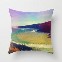 miles davis Throw Pillows featuring Miles Away. by Daniel Montero