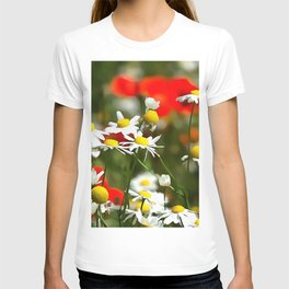 In A Field of Poppies Be A Daisy T-shirt