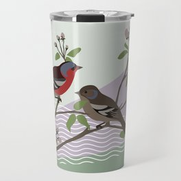 loving chaffinches Travel Mug