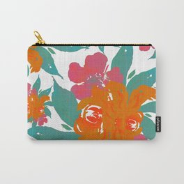 """""""Vivid Colors Tropical Classic Floral"""" Carry-All Pouch"""