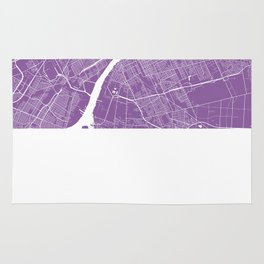 Detroit map lilac Rug