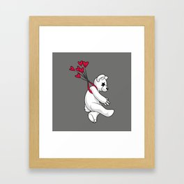 Swept Away Bear Framed Art Print