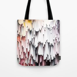 White Black Mauve Cascade Abstract Tote Bag