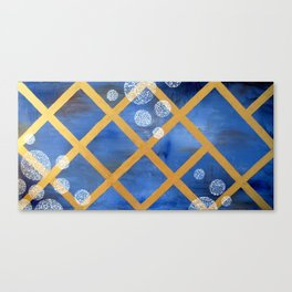first comes winter Canvas Print